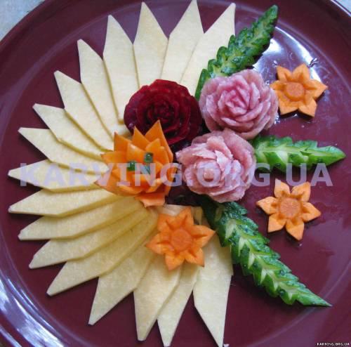 Нарезка из овощей пошагово